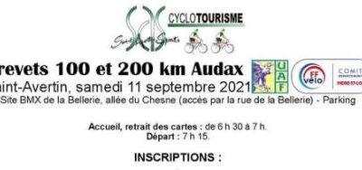 Brevet Audax 100 et 200 km à Saint-Avertin
