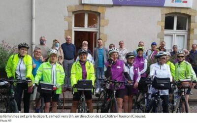 Les féminines cyclotouristes de l'Indre parties pour Toulouse
